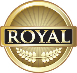 Royal Gold Vintage Label