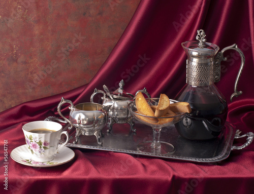 Coffee composition victorian style.
