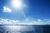 sunny blue sky ocean