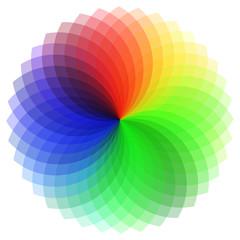 Farbkreis Farbfächer für Design auf weißem Hintergrund