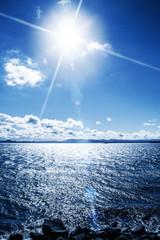ocean sun glare
