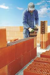 Répartition du joint à briques