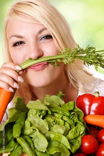 canvas print picture Spaß mit Gemüse