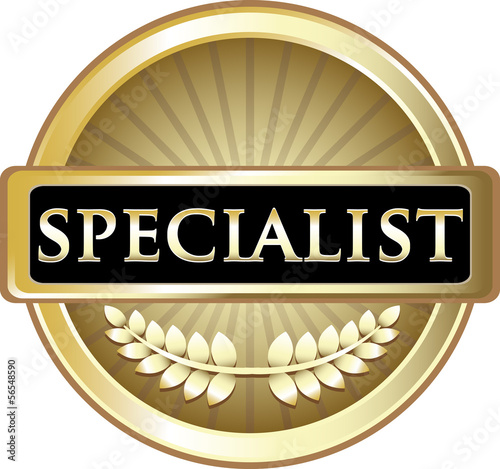 Specialist Gold Vintage Label