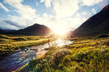 sunshine scottish river