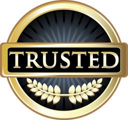 Trusted Black Vintage Label