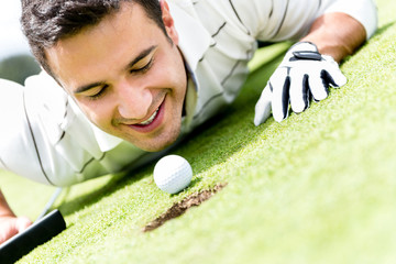 Golf player cheating
