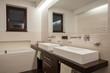 Travertine house - Stylish bathroom