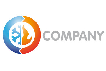 Refrigeration, Air Condition and Heating Company Logo