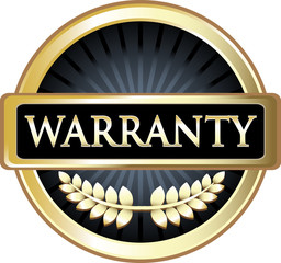Warranty Black Vintage Label