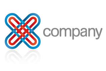 Abstract Symbol Network Company Logo