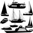 boats silhouettes - vector - 56549927