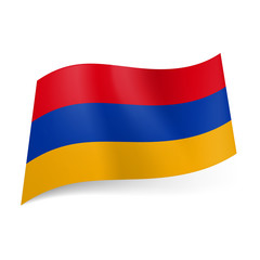 State flag of Armenia.