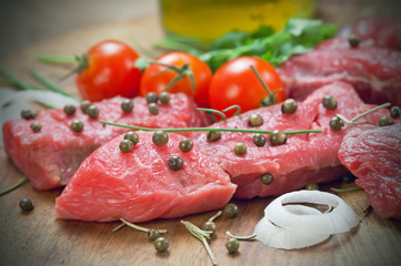 Beef steak   - Tagliata pepe verde