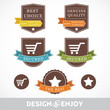 Set of stickers and ribbons, discount sale promotion concept