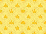 abstract seamless pattern with maple leaves