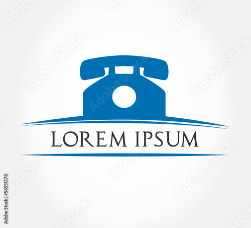 Telephone logo. Vector illustration.