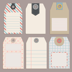 Vintage Style Tags for Design or scrapbooking