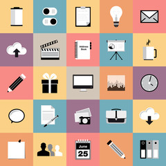 Set of web icons - modern flat design