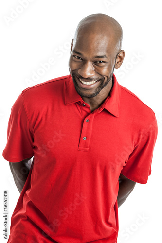 Handsome Black Man Portrait isolated on white