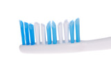 toothbrush head isolated on a white background.