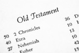 Holy Bible Old Testament table of contents