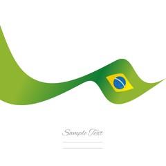 Brazilian flag ribbon vector