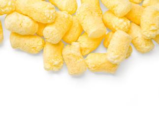 Crunchy corn snacks