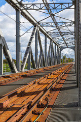 Historical railway bridge in Tczew, Poland