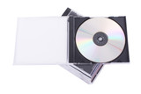 DVD case isolated on a white background.