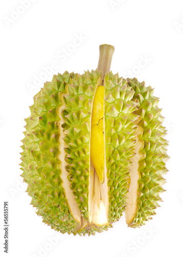 Durian isolated on white background