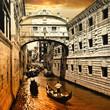Venice on sunset. bridge of sights
