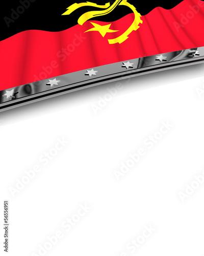 Designelement Flagge Angola