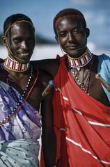 Kenya, Malindi, Masai on the beach