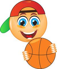 Смайл, баскетбол, мяч