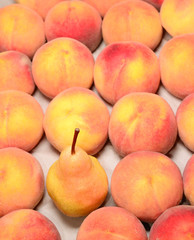 Ripe peach in the market