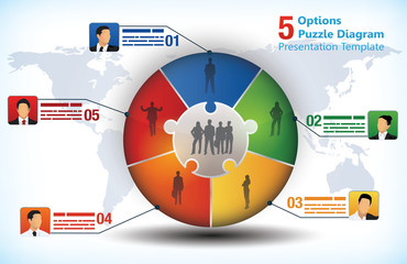 5 sided business presentation template