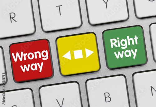 Wrong way - Right way tastatur
