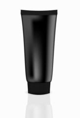 Black cream tube vector illustration