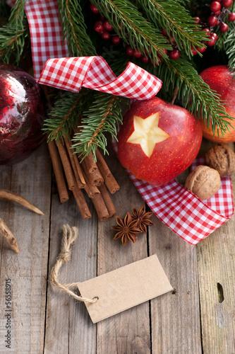 Christmas time, apple