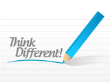 think different message illustration design poster