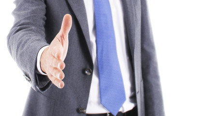 Handshake from businessman