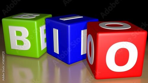 BIo colored cubes