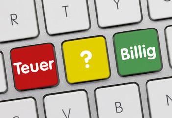 Teuer oder billig Tastatur