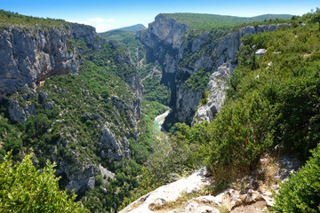Gorges du Verdon european canyon and river, Provence, France