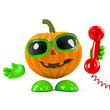 Pumpkin answers the phone