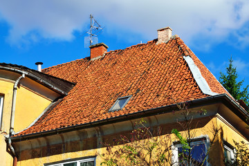 Roofs of old Konigsberg. Kaliningrad (Konigsberg before), Russia