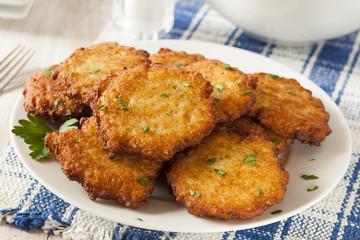 Homemade Traditional Potato Pancake Latke