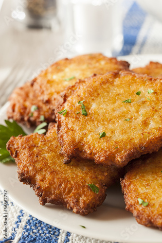 Homemade Traditional Potato Pancake Latke