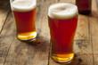 Leinwandbild Motiv Cool Refreshing Dark Amber Beer